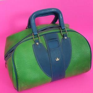 Vintage Green & Blue Bag